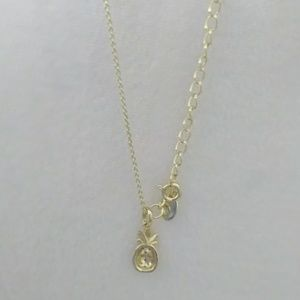 Summer Items on sale save up to 30% of more Jewelry - CZ Pineapple Gold Plated Necklace